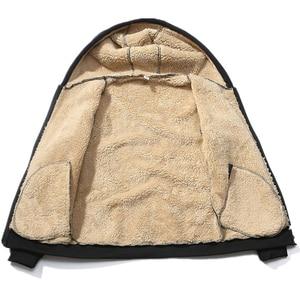 Image 2 - Ensemble de survêtement épais chaud pour homme, survêtement masculin, sweater à capuche cachemire, XS 4XL