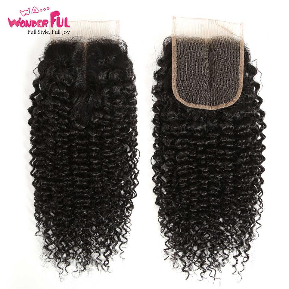 Remy Кудрявые Волнистые человеческие волосы пучки с закрытием перуанские волосы 3 пучка кудрявые вьющиеся волосы с закрытием от 8 до 28 дюймов