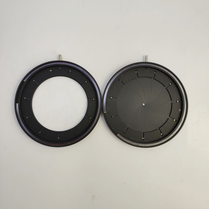 2-50mm Mechanical Iris Aperture Diaphragm Condenser Module With 18pcs Blades