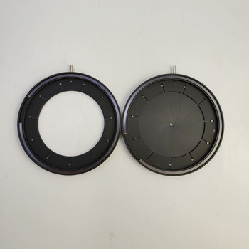 Módulo de condensador de diafragma de apertura de Iris mecánico de 2-50mm con 18 Uds de cuchillas