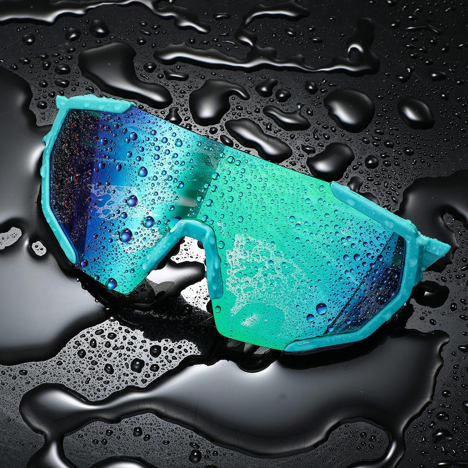 Gafas de sol polarizadas para deportes al aire libre, 5 lentes, para bicicleta de carretera y velocidad