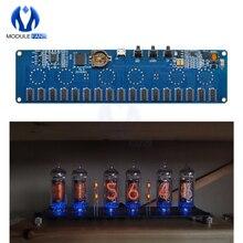 STM8S005 Điều Khiển 12V 1A Điện Tử IN14 Nixie Ống Đèn LED Kỹ Thuật Số Đồng Hồ Tặng Bảng Mạch PCBA Đèn RGB Đồng Hồ chip IC Micro USB