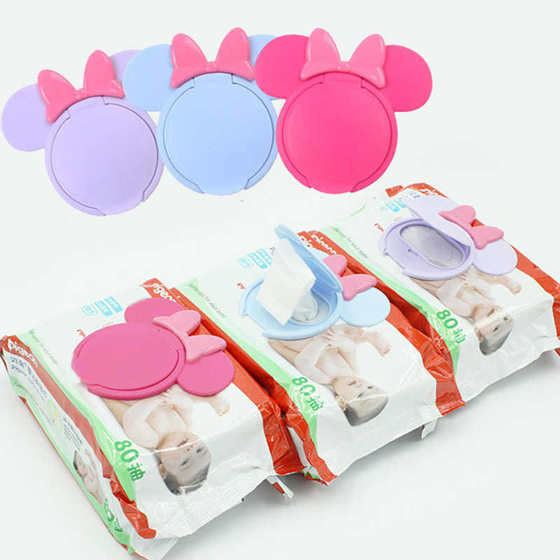 1Pc Cartoon Baby Wet Wipes Lids Reusable Wet Wipes Cover For Wet Wipes Baby Skin Care Portable Travel Wipes Tissues Bag Covers