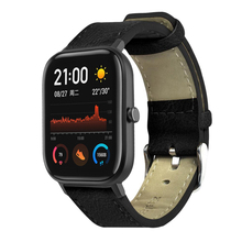 Leather Watchband Wrist Replacement Strap for Huami Amazfit GTS Smart Watch Table rope WWO66