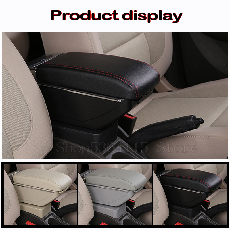 Armrest Storage Box With Usb,Holder Container With Cup Holder Ashtray Armrest QWEAS Centre Console Storage Box Armrest for Toyota aygo