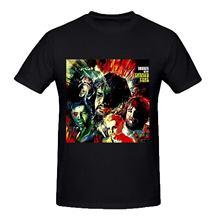 Camiseta preta de calor enlatado boogie com calor enlatado para homem