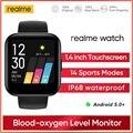 Новый realme Смарт-часы дисплей, измеряющий сердечный ритм в реальном времени крови кислородом монитор IP68 Водонепроницаемый спортивные 1,4 дюй...