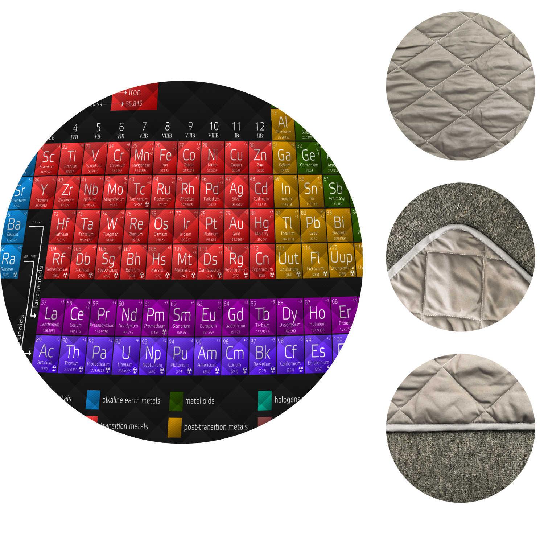 Tabla Periódica de elementos de impresión de manta de colcha para niños escolares adultos suave de algodón Delgado colcha tamaño King al por mayor