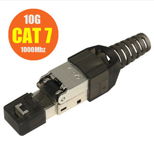 Image 3 - 100 Uds Cat6A Cat7 Cat8 RJ45 conectores de engaste Ethernet apantallado LAN Cable de red de Cable de Internet RJ 45 Terminal Modular Plug