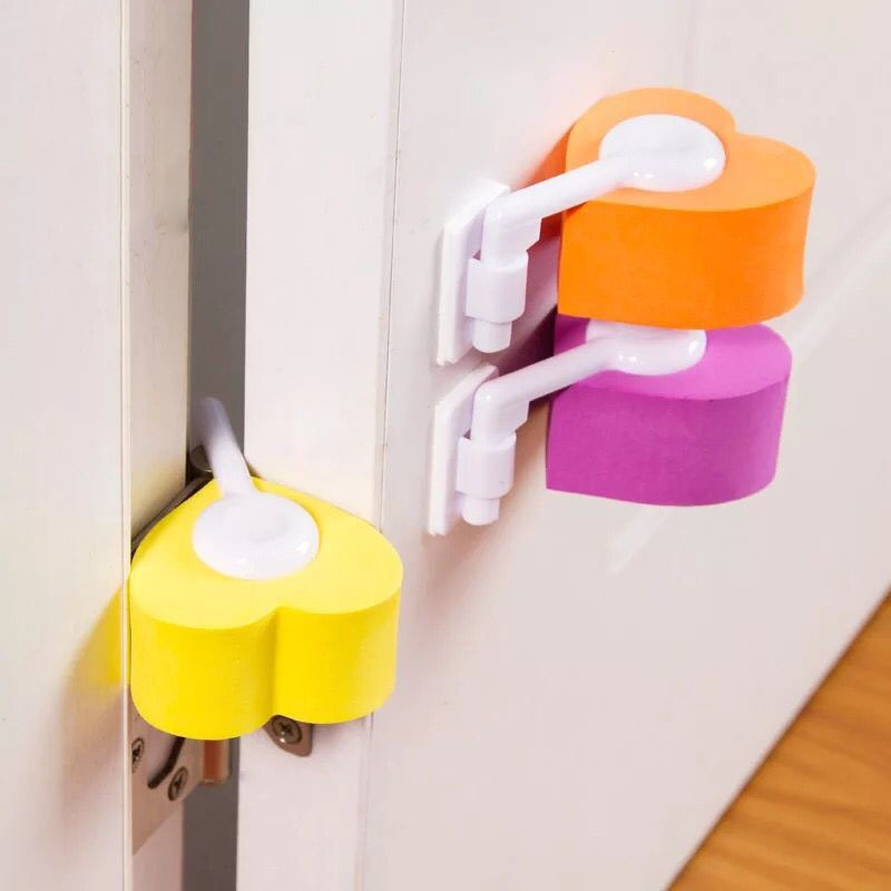 2Pcs Door Stopper Baby Safety Lock Toddler Kids Safety Care Baby Proof Children Security Protection Baby Safe Anti Pinch Hand
