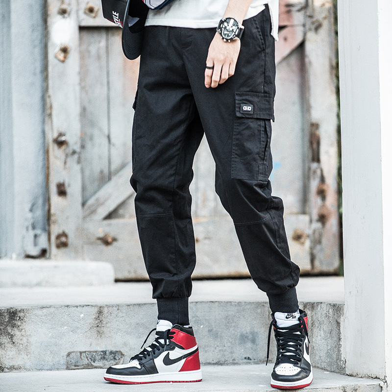 Fashion Skinny Harem Pants Loose Casual Pants Men Beam Leg Bib Overall Fashion