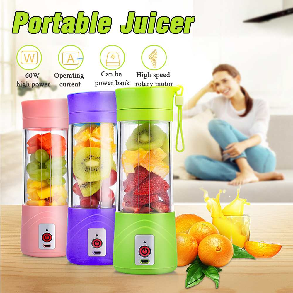 380ml Portable Juicer Electric USB Charging Smoothie Blenders Machine Mixer Mini Juices Cup Maker Fast Blenders Food Processor