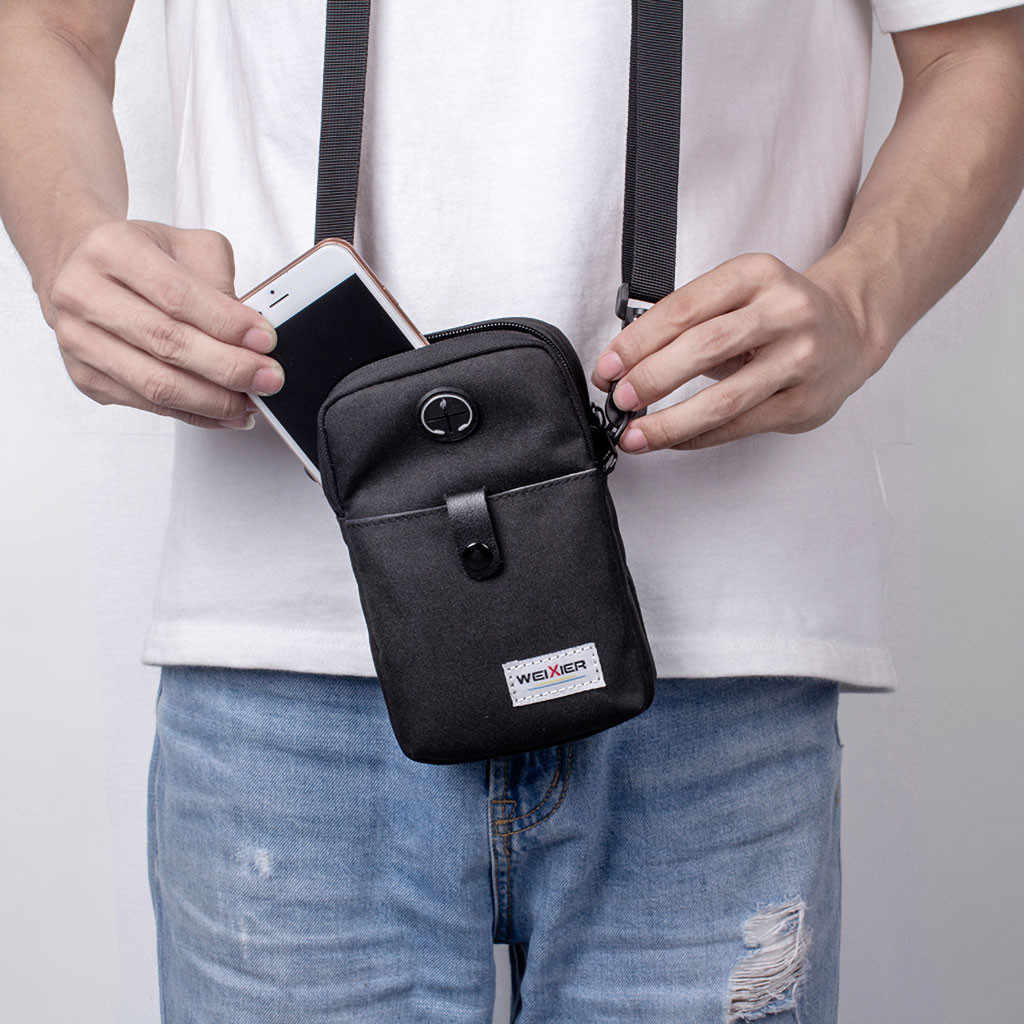Fashion 2019 Casual Men Diagonal Mini Shoulder Multi-Function Mobile Phone Bag Outdoor Sports Messenger Shoulder Tote Bag