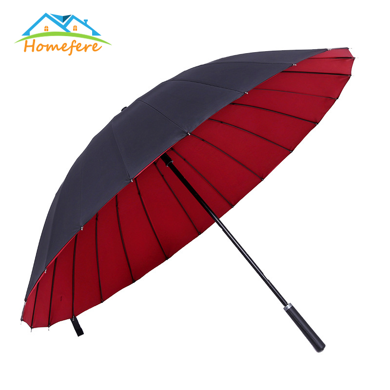 Women Gifts Travel Parasol Rain <font><b>Umbrella</b></font> Men Quality Long Handle <font><b>Big</b></font> <font><b>Golf</b></font> <font><b>Umbrella</b></font> 24K Strong Double Layers Windproof image