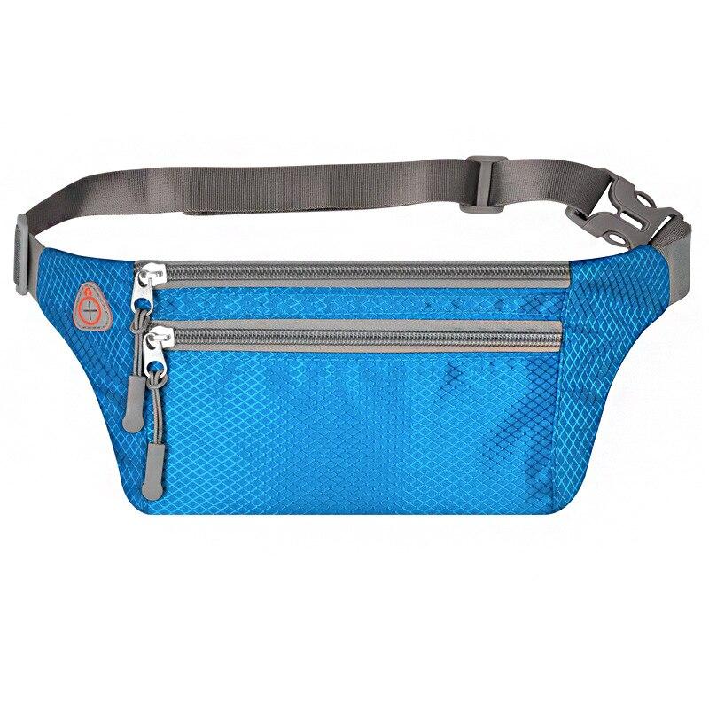 Oxford Cloth Hidden Body Hugging Mobile Phone Waist Bag Men's Women's Nylon Fanny Pack Outdoor Sport Waist Bag Multi-functional