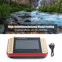 4.3 Inch HD Screen Digital FM Radio with Stand Holder Pocket Radio Multifunctional Support TF Card U Disk Video Player Mini Radi
