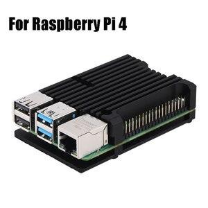 Image 2 - Ốp Lưng Nhôm Hợp Kim Thiết Giáp Với Nhiệt Làm Mát Quạt Kép Cho Raspberry Pi 4 Mẫu B