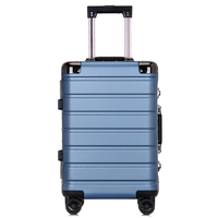 PC Material Pressure and Durable Trolley Case Mute Caster Customs Lock Luggage Unisex Business Students Boarding The Chassis
