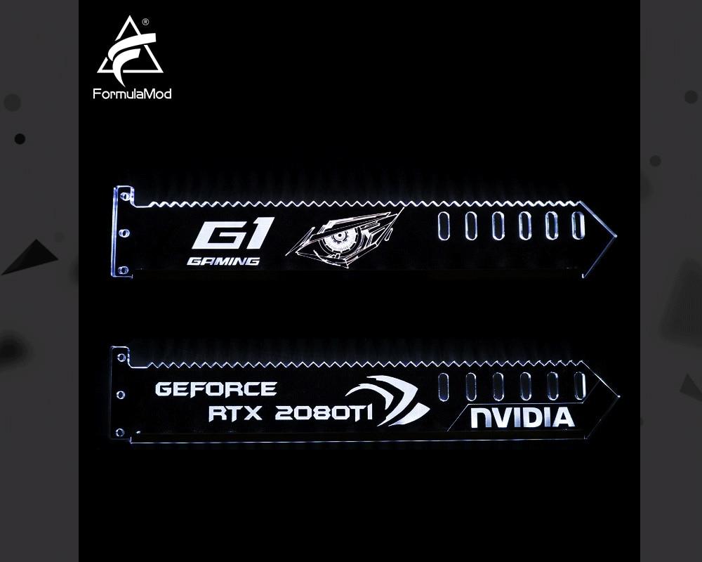 FormulaMod Fm-QJD, RGB GPU Block Acrylic Brackets, GPU Holders, Decorative Plates, 5v 3Pin RGB Synchronizable Motherboard Lighting
