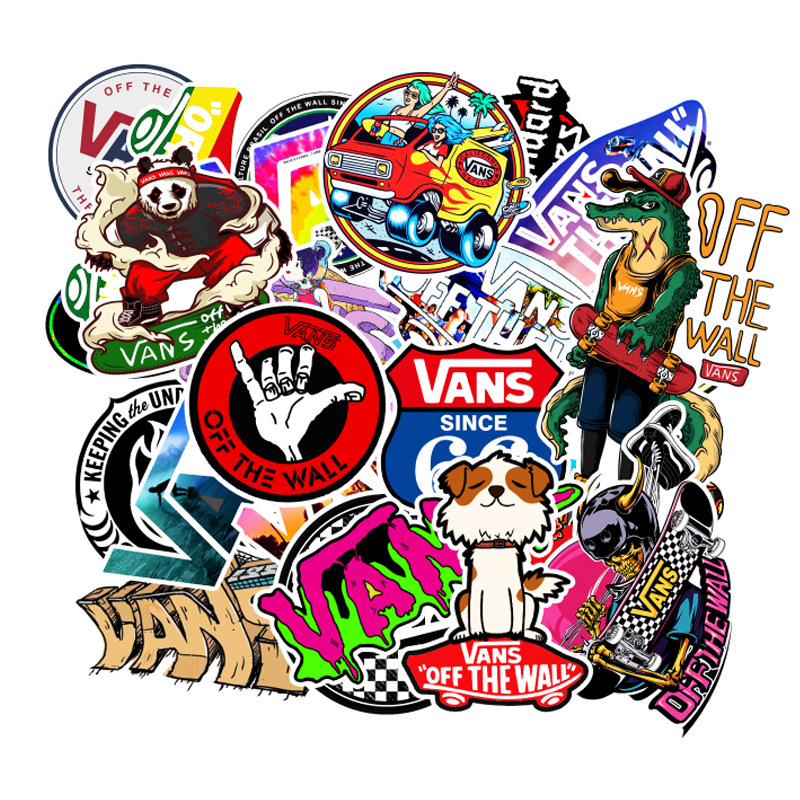 100Pcs/Set Cartoon Cute Doodle Band Sticker Brand Skateboard Suitcase Laptop Guitar Car PVC Waterproof Wallpaper F3