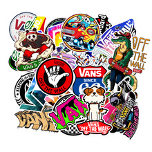 100Pcs/Set Cartoon Cute Doodle Band Sticker Brand Skateboard Suitcase L