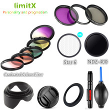 Filter UV CPL ND FLD Graduated Colour Star & Lens Hood Cap for Nikon Coolpix B700 B600 P610 P600 P530 P520 P510 Camera