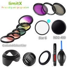 Filtro Uv Cpl Nd Fld Laureato Colore Star & Lens Hood Cap per Nikon Coolpix B700 B600 P610 P600 P530 p520 P510 Macchina Fotografica