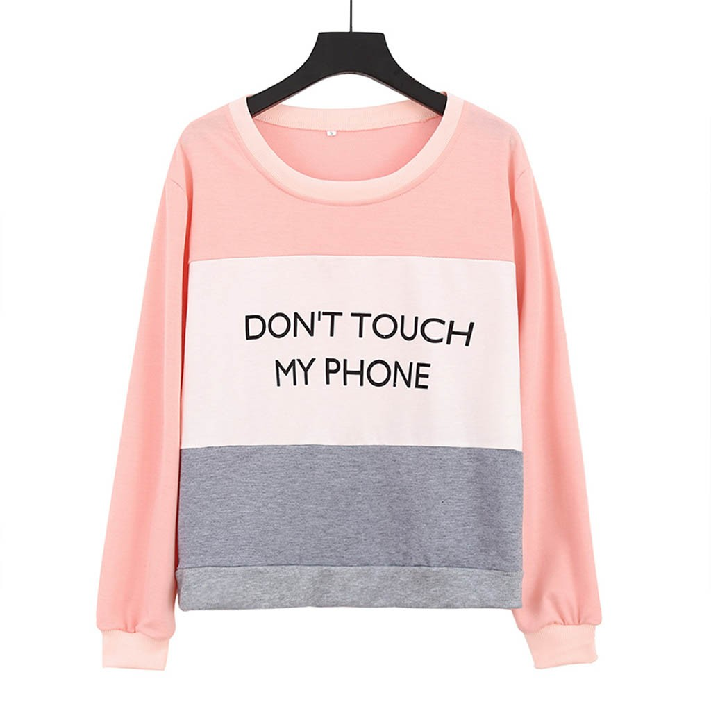 Fashion Women Casual Long Sleeve Print O-neck Sweatshirt Pullover Blouse Winter 2020 Dropshipping free shipping fashion Workwear