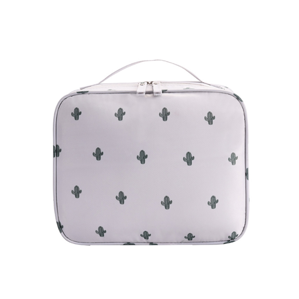 Business Organizer Dustproof Makeup Bag Travel Brush Pouch Toiletry PVC Square Shape Outdoor Drawstring Cosmetic Case Lazy