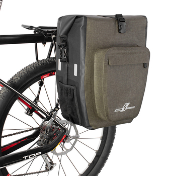 Bicycle Bag Waterproof 27L Large capacity Portable MTB Bag Rear Rack Tail Seat Trunk Pack Cycling Tail package Bike Accessories