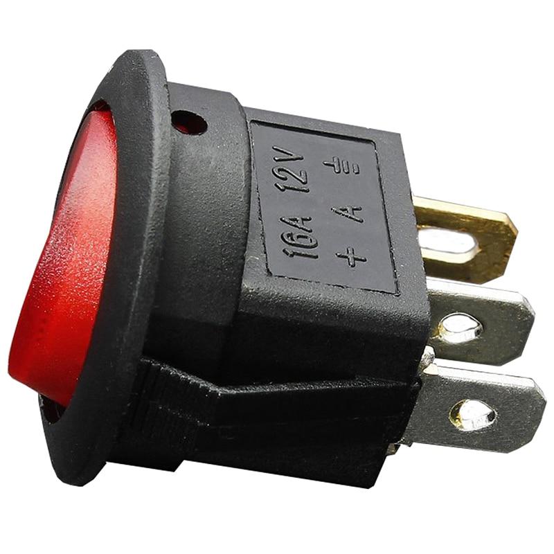 Double Rocker Switch 220v 16a Unipolar Red Button 12v 32x25mm 8224