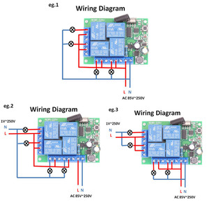 Image 4 - Contrôleur sans fil universel de RF de Module de récepteur de relais de 433MHz 110V 220V 10Amp 2200W 4CH pour louvreur de lumière/LED