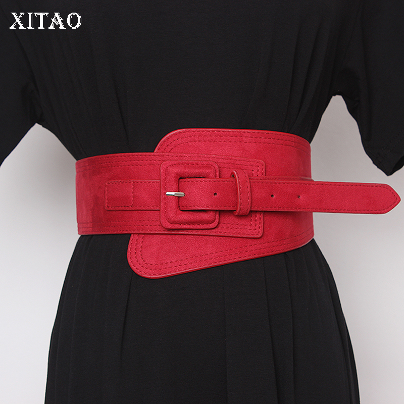 XITAO Vintage Fashion Cummerbunds Elegant Small Fresh Elastic Wind Cold Patchwork Women Minority Casual 2019 Cummerbunds DMY2032
