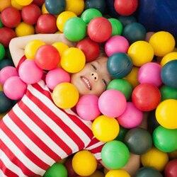 100 шт./компл. Пластик мячей мягкий Океанский мяч океана-игрушки экологичный милый детский комбинезон с рисунком Детские Плавание Яма игрушк...