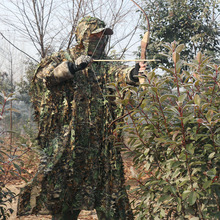 Cloak Ghillie-Suits Hunting-Clothes Camouflage-Poncho Sniper Jungle Bionic Birdwatching