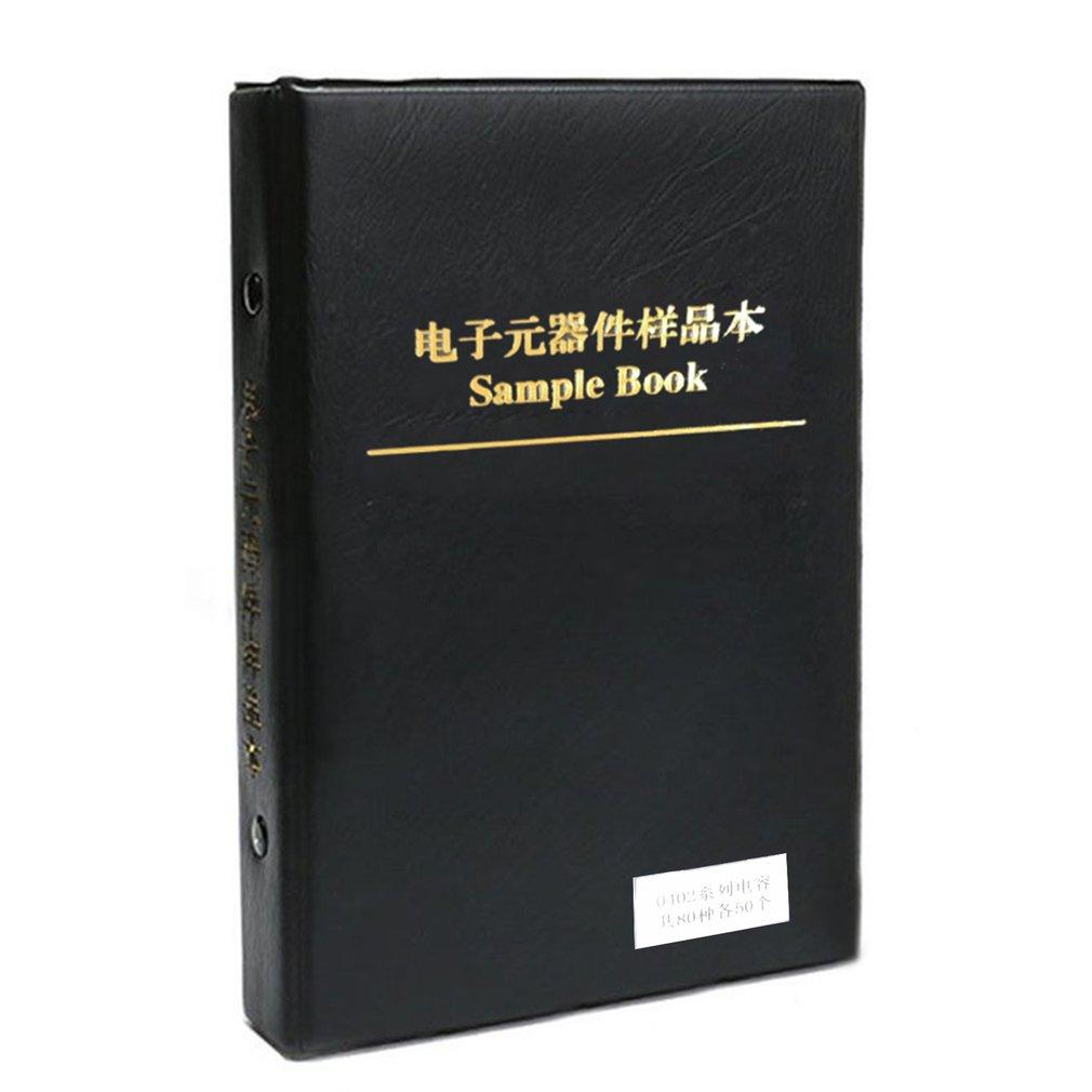1 Набор 0402 Smd набор образцов конденсаторов 80 ценностей 50 шт. 4000 шт. упаковка конденсаторов ПФ 1 мкФ набор различных конденсаторов