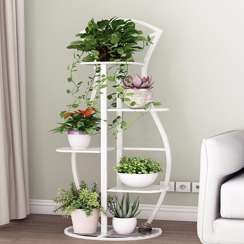 Multi-storey Indoor Household Balcony Iron Art Of Shelf Province Space Flowerpot Landing Type