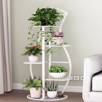 Multi-storey Indoor Household Balcony Iron Art Of Shelf Province Space Flowerpot Landing Type