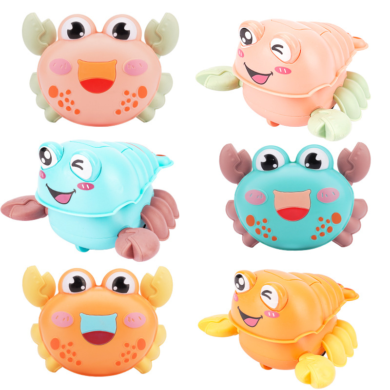 Inertial Power Car Animal Cute Cartoon Crab Crayfish Soft Rubber Puzzle Fun  For Children Gift Classic Baby Toys Clockwork Toy