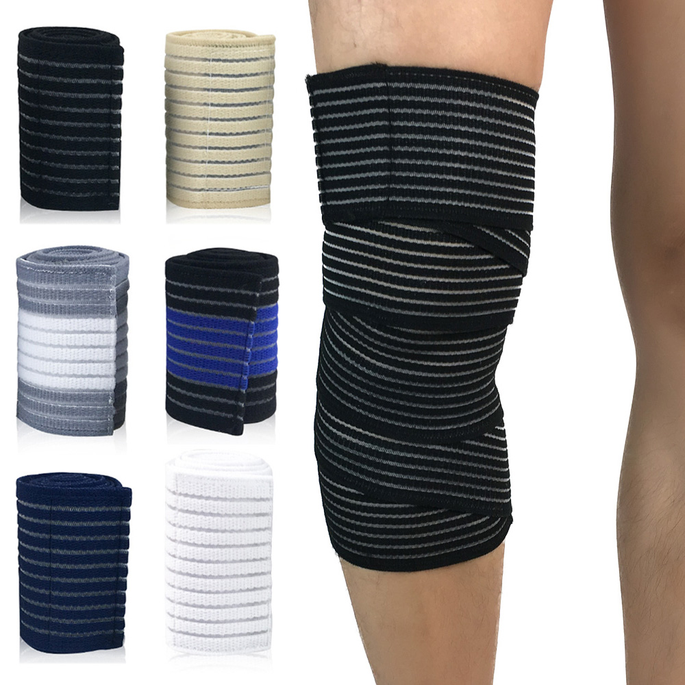 Protection Knee Wraps Elastic Bandages Compression Support Sport Protective Gear