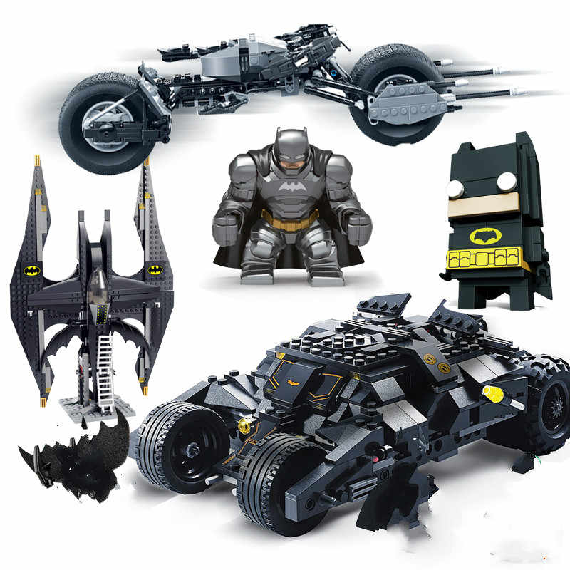 Decool superheros compatib legoed batman vs superman batmobile Marvel's Avengers 4 movie model building toys children bricks