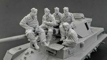 ใหม่ประกอบ 1/35 โบราณ Panzer ลูกเรือ (5 ตัวเลข) (ถัง) รูปเรซิ่น Unpainted Model Kit