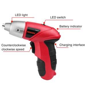 Image 2 - Tournevis électrique sans fil 45 pièces, Mini perceuse rechargeable par USB, outils électriques 3.7V