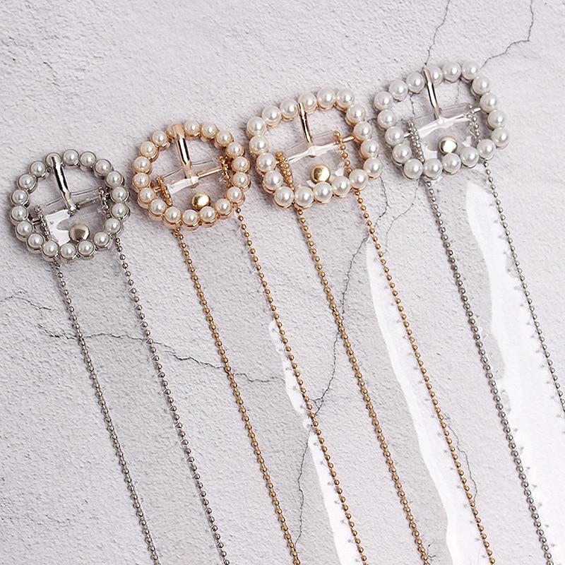 2020  Ladies Fashion Clear Belt Waist Belts For Women Transparent White Pearl Belt Cinturon Mujer Plastic Designer Waistband