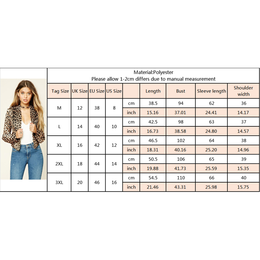 Women Blazer Vintage Leopard Print Female Retro Short Suits Slim Fit Office Ladies Leopard Coat Feminino blazers Outerwear D40