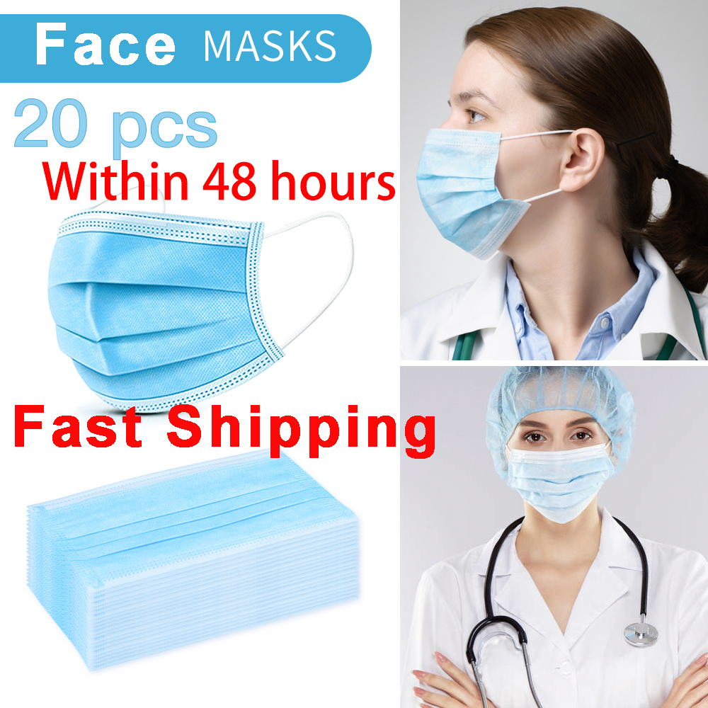 20PCS DROPSHIPPING KN95 Disposable Anti Dust Mask Mouth Face Mask Within 48 Hours Fast Shipping In Stock