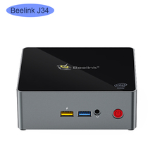 Beelink J34 win 10 Mini PC intel J3455 2.3GHz 8GB DDR3 SSD DA 256GB di windows 10 del computer linux NUC ubuntu computer desktop