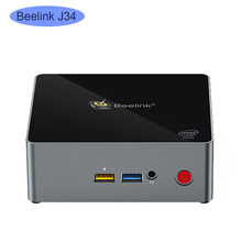 Beelink j34 ganha 10 mini pc intel celeron j3455 2.3 ghz 8 gb ddr3 128 gb ssd windows 10 computador linux nuc ubuntu jogo computador