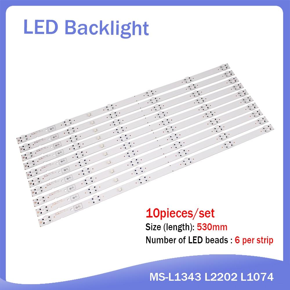 New 10PCS/lot 6LED(3V) 530mm LED Backlight Strip For SONY KD-55XF7003 DRT L_R04_171128 KD-55XF7096 KD-55XF7073