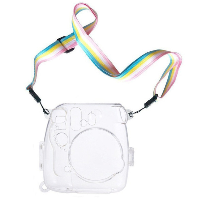 Portable Easy Apply Camera Case Dustproof With Strap Transparent Lightweight Housing Protective Practical For Instax Mini 8 9